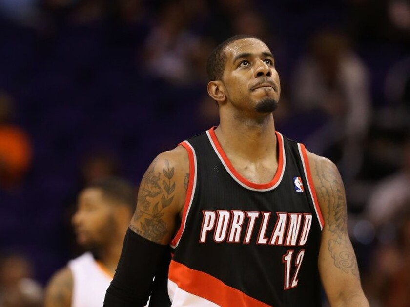 The Lakers met with power forward LaMarcus Aldridge as the NBA free-agency period began on Tuesday night.