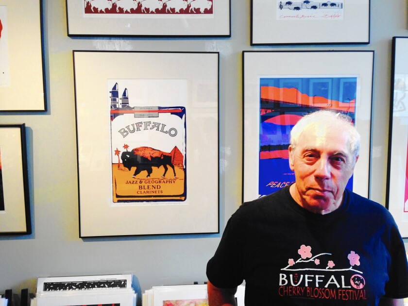 Graphic artist Michael Morgulis, 73, of Buffalo, N.Y., is proud of his roots.