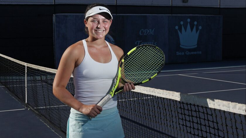 Corona del Mar High girls' tennis player Janie Marcus is the Female High School Athlete of the Week.