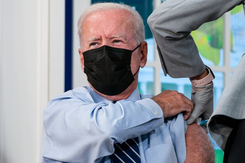 President Biden getting his booster shot against COVID-19.