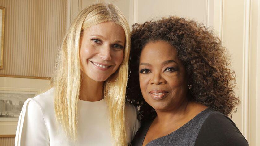 Gwyneth Paltrow and Oprah Winfrey