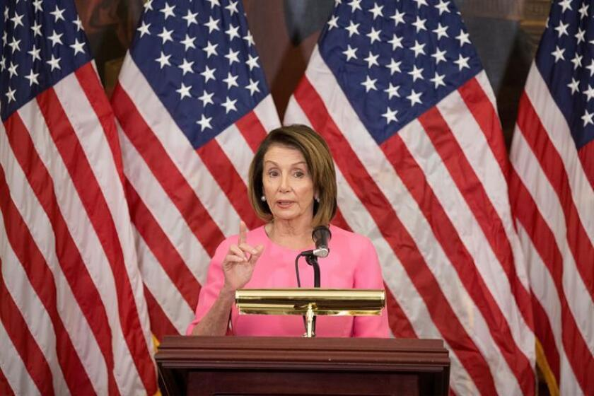 Washington, Nov. 7, 2018: The top elected Democrat in the United States, Nancy Pelosi, said Wednesday that her party's success this week in winning control of the House of Representatives bodes well for democracy. EPA/EFE/ Michael Reynolds