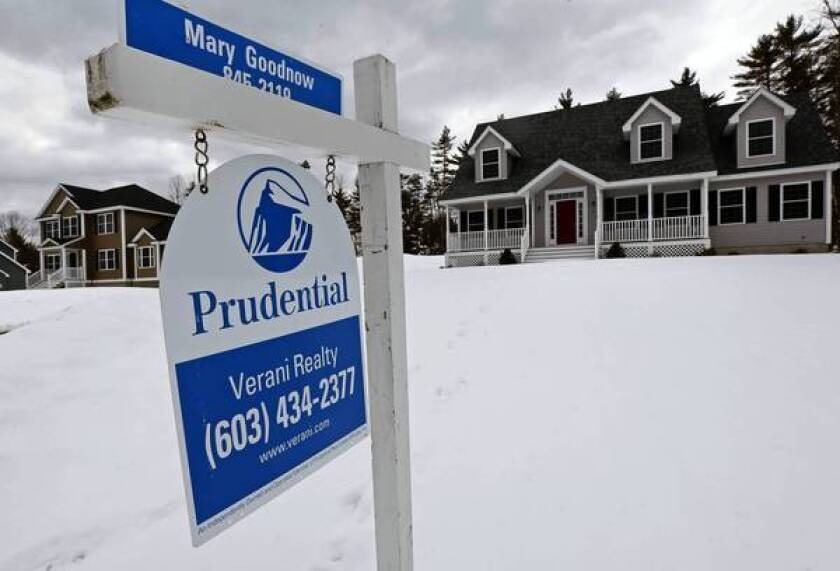 The Standard & Poor's/Case-Shiller home price index rose 0.3% in February over the previous month and was up 9.3% over February 2012. Above, a home for sale in March in Auburn, N.H.