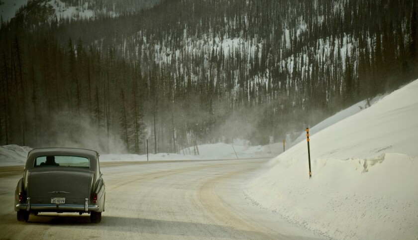 Elvis Presley's 1963 Rolls-Royce in the Rocky Mountains, Colorado, in Eugene THE KING. Photo by Tayl