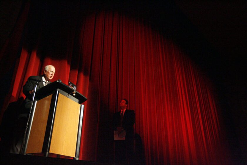 Art Mazmanian talks to the crowd during the 10th Annual Genocide Commemoration, which took place at Glendale High School on April 20, 2011. The event was presented by GUSD Aremnian Clubs from Clark Magnet, Crescenta Valley, Glendale and Hoover high schools.
