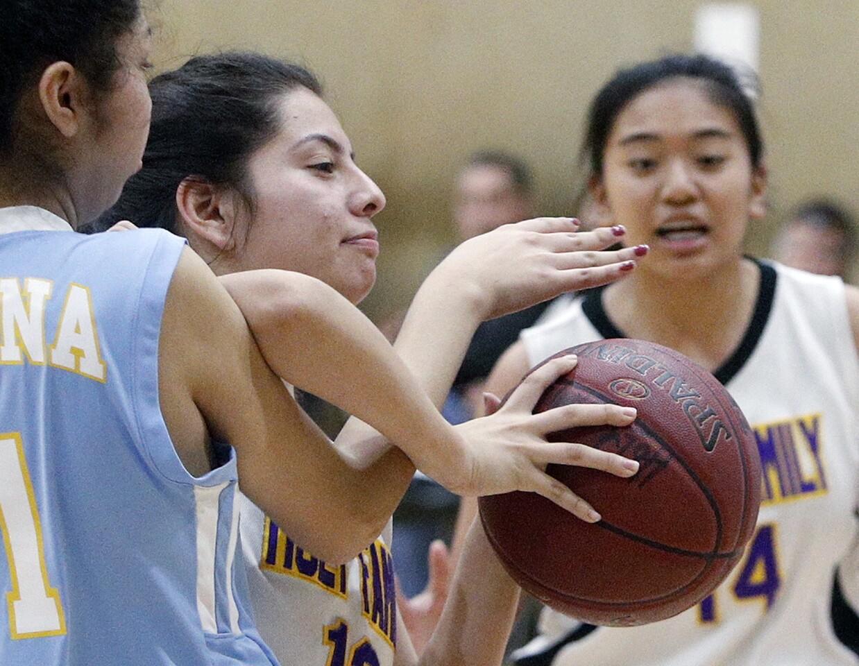 Photo Gallery: Holy Family vs. Ramona Convent in Horizon League girls basketball