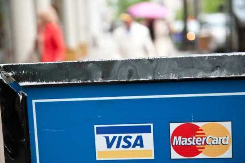 Visa and MasterCard said they were affected by a data breach at Global Payments.