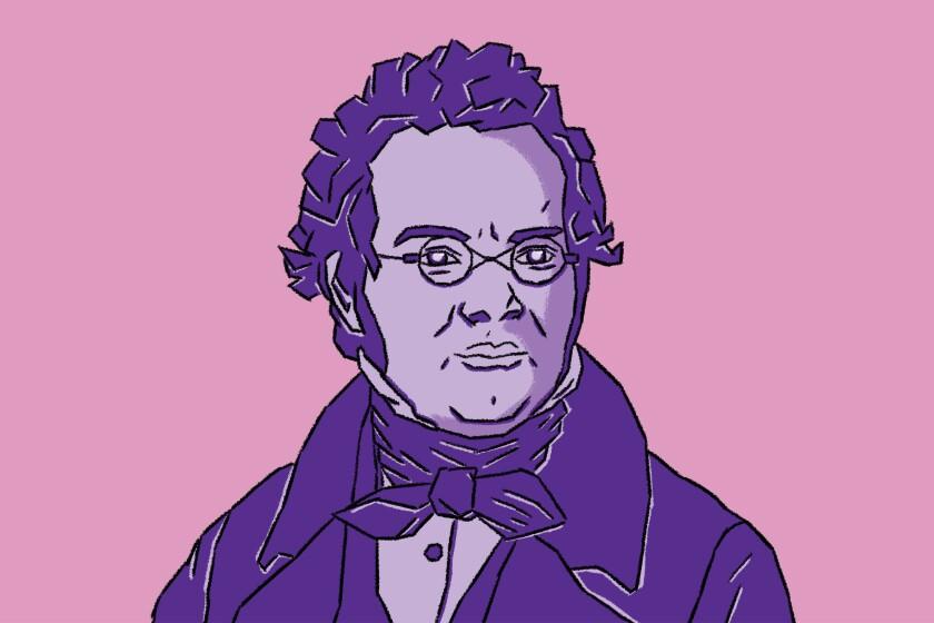 Illustration of Franz Schubert