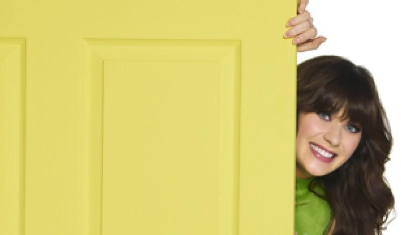 "Zooey Deschanel stars in ""New Girl,"" premiering Tuesday on Fox."