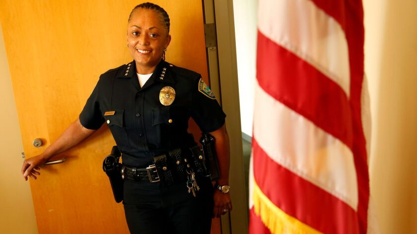 For the first time, there are seven female police chiefs in LA County, including Chief Jacqueline Seabrooks