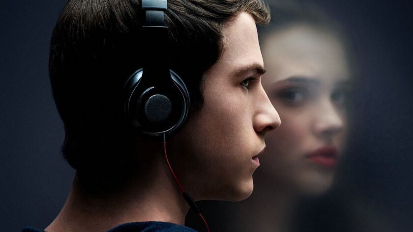 """""""13 Reasons Why"""" poster from the Netflix series."""
