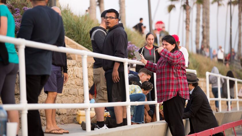 A 21-year-old man was fatally shoot at the Junior Seau Pier Amphitheatre in Oceanside Thursday eveni