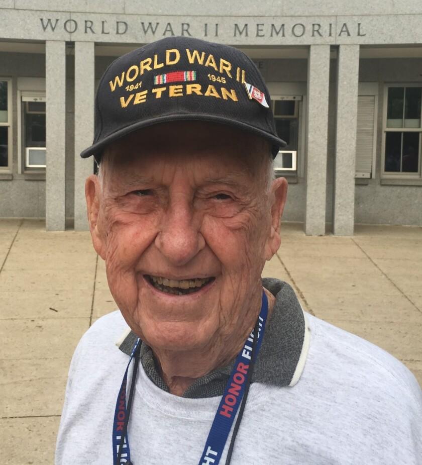 WWII Veteran Curtis Ladd on his Honor Flight trip.