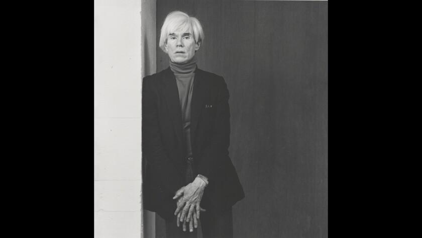 """Andy Warhol,"" 1983. Gelatin silver print."