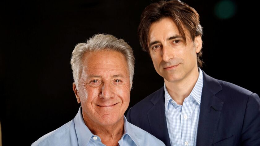 """Filmmaker Noah Baumbach, right, and actor Dustin Hoffman collaborated on the Netflix release """"The Meyerowitz Stories (New and Selected)."""""""