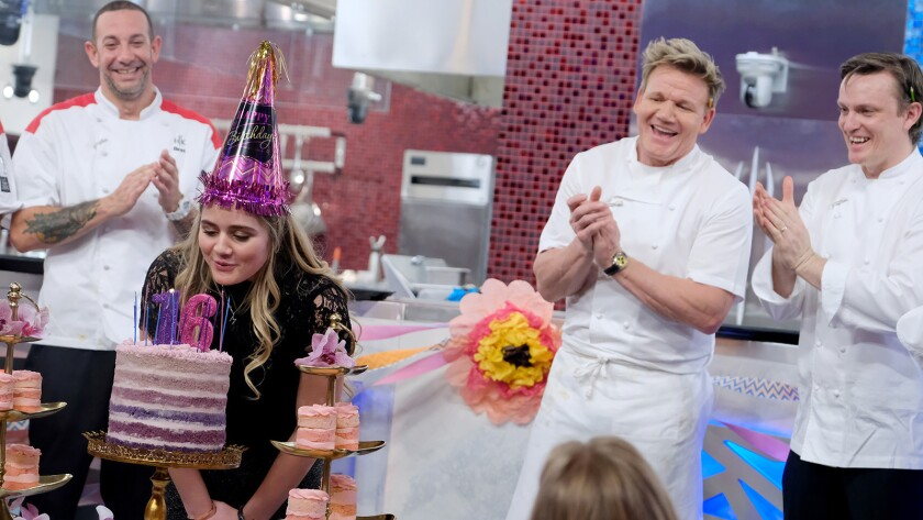"Matilda Ramsay and Gordon Ramsay in ""Hells Kitchen"" on Fox."