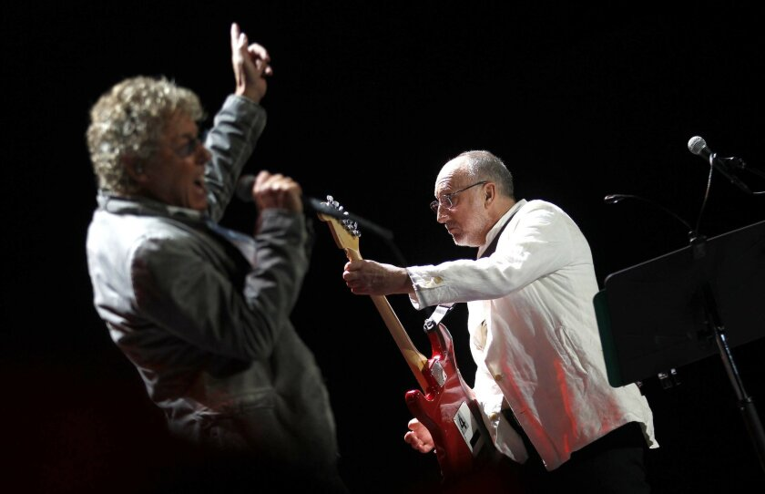Roger Daltrey and Pete Townshend, the surviving members of The Who.