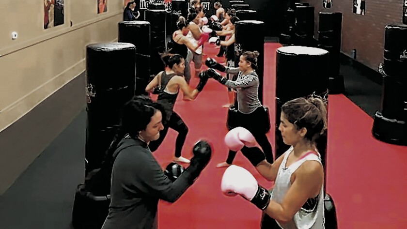 The iLoveKickboxing program is based on the High Intensity Interval Training model that features intense bursts of exercise followed by short periods of rest. iLoveKickboxing is at 7710 Fay Ave., La Jolla. (858) 880-7719.