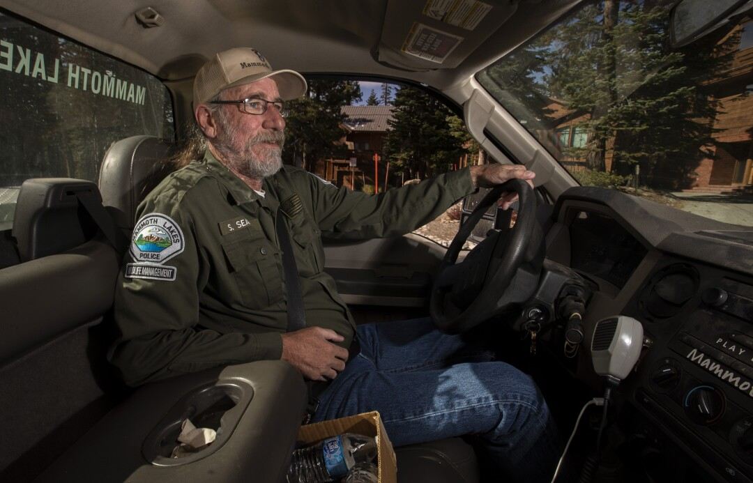 """Bear whisperer"" Steve Searles patrols the town of Mammoth Lakes."
