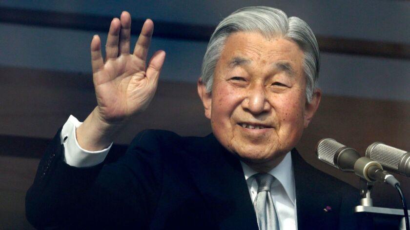 Japan's Emperor Akihito, Tokyo - 23 Dec 2016