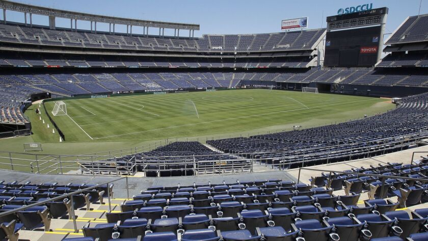 SAN DIEGO, July 24, 2018 | The field is set up for Wednesday's International Champions Cup soccer ma