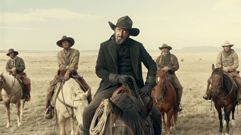 """Ralph Ineson as """"The Man in Black"""" in """"The Ballad of Buster Scruggs,"""" a film by Joel and Ethan Coen."""