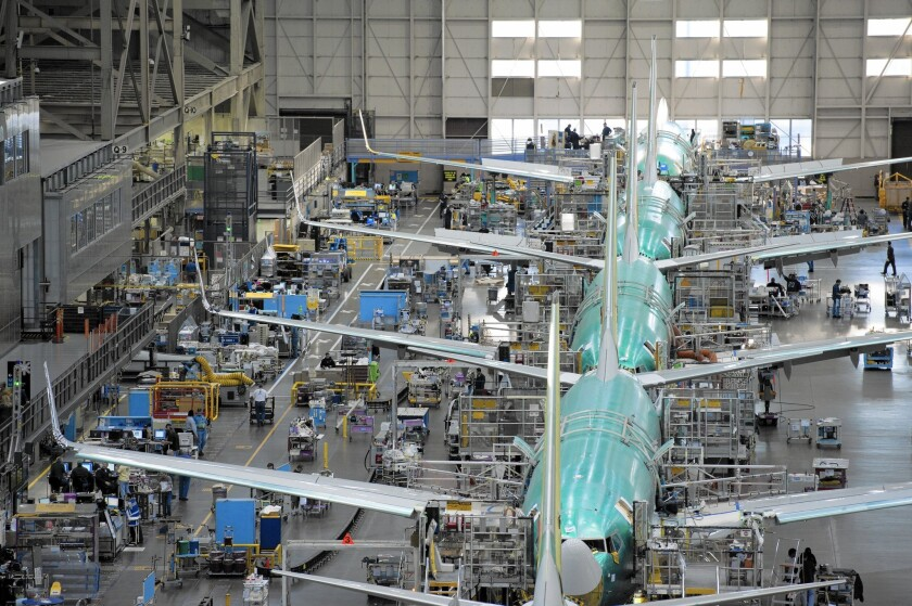 Boeing 737 assembly line
