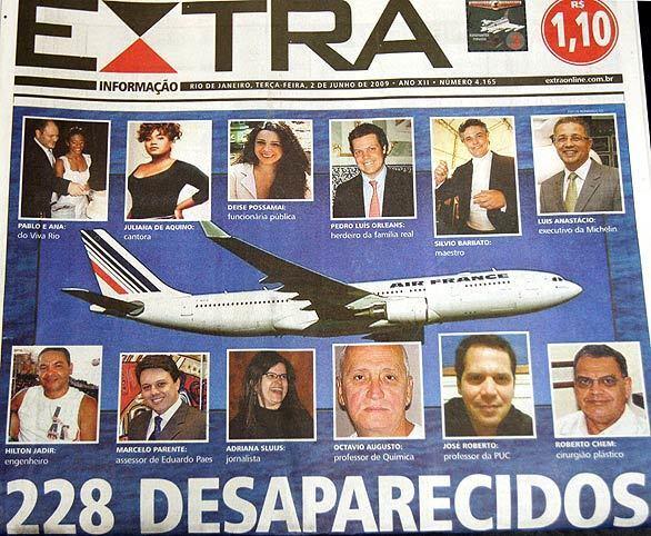 Missing Air France plane