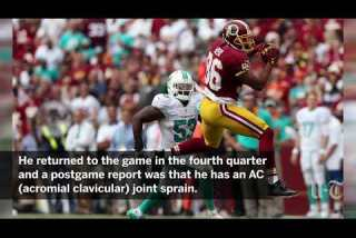Jordan Reed now has different pain to play through