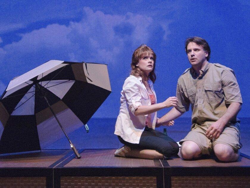 "Eileen Bowman and Sean Cox in ""Joe vs. the Volcano ... the musical!"""