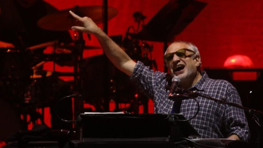 Donald Fagen performs with Steely Dan on Wednesday at the Forum.