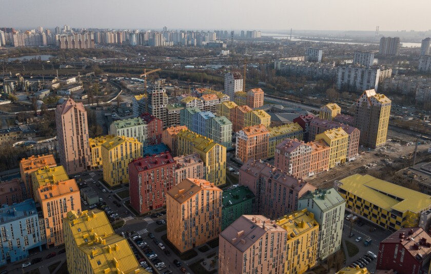 Comfort Town housing development in Kiev, Ukraine, the first residential complex in Ukraine based on