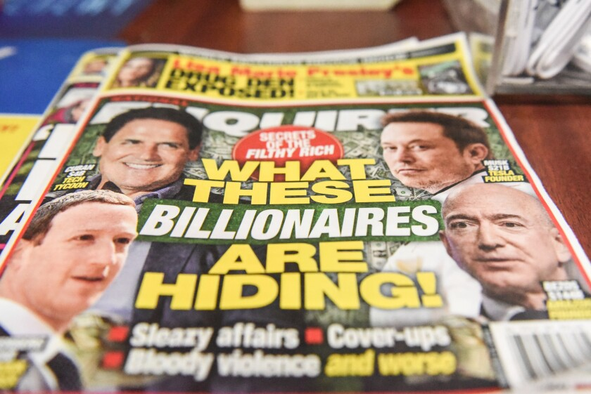 The National Enquirer on sale