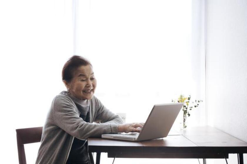 During the visits, caregivers can have free time in the house to relax while their loved one talks with the volunteer online.