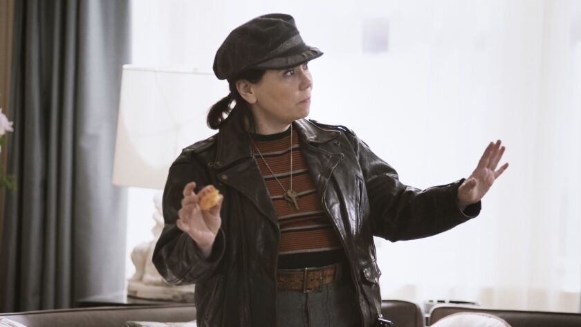 "Alex Borstein as Susie Myerson in Amazon's ""The Marvelous Mrs. Maisel."""