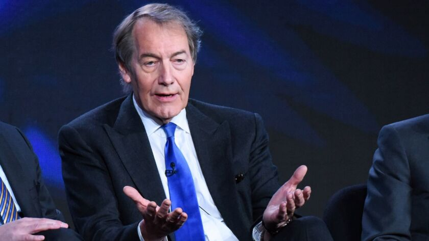 Charlie Rose speaks during a panel discussion in Pasadena in 2016.