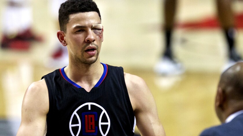 Clippers' playoff epitaph is written in blood, but they showed plenty of heart in loss to Portland