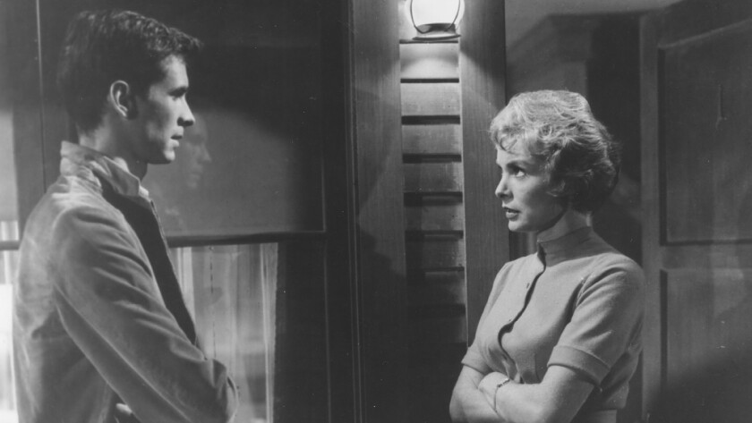 "Anthony Perkins and Janet Leigh in ""Psycho "" (1960)"