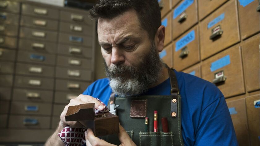 Nick Offerman on the show Offerman Wood Shop. Credit: Victoria Wall Harris