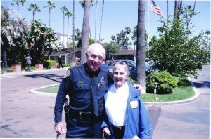 San Diego Police Chief William Lansdowne and Noreen Haygood. Courtesy