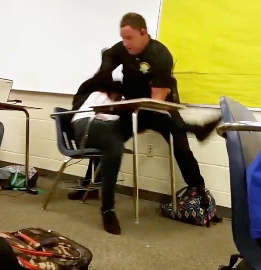 Girl thrown from desk didn't obey orders because her punishment was unfair, attorney says
