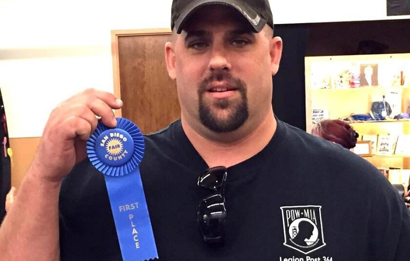 Gene Michonski won the blue ribbon at the San Diego County Fair for his spicy Commander's Best Chili.