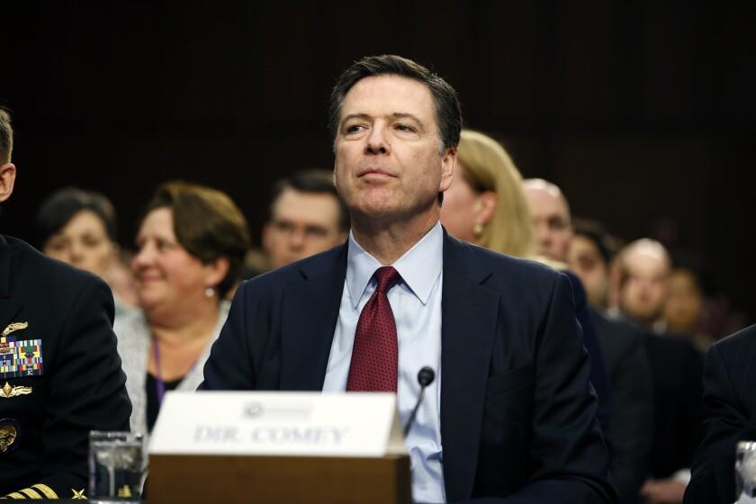 FBI Director James Comey speaks Feb. 9 to the Senate Intelligence Committee.