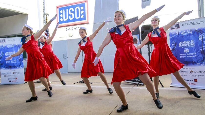SAN DIEGO, November 10, 2018 | Members of the Santa Fe Christian High School Dance Troupe perform du