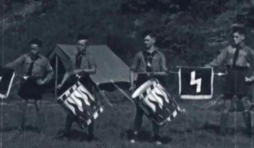 Not your average summer camp: German-American Bund campers, 1937.
