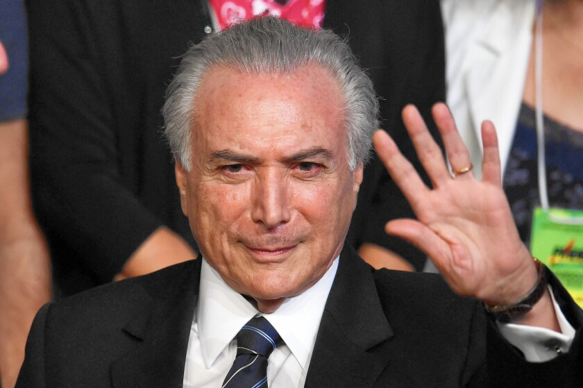 Brazilian Vice President Michel Temer is also the subject of impeachment proceedings.
