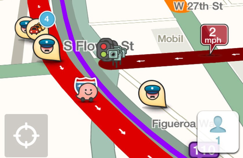 Mayor Eric Garcetti announced a new data-sharing partnership between the Waze traffic app and the city of Los Angeles.