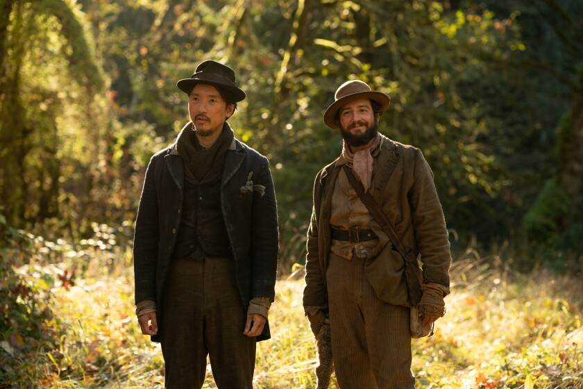 Orion Lee and John Magaro in the movie 'First Cow'