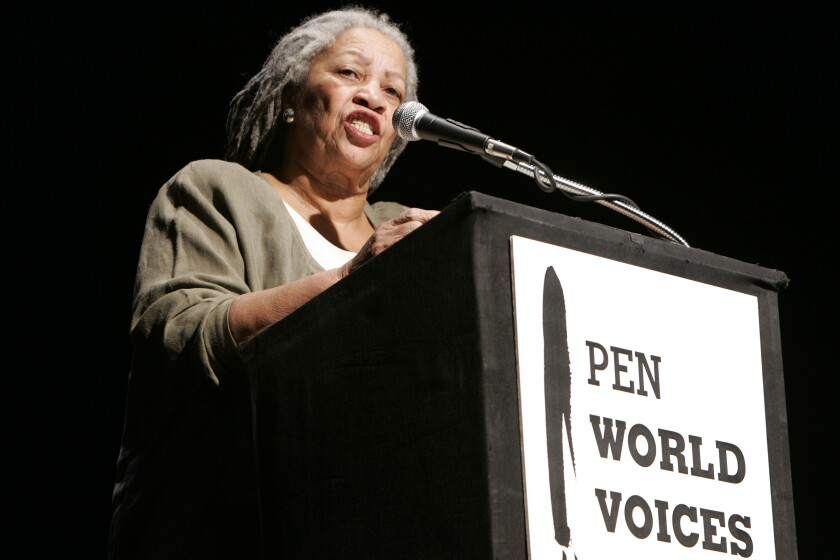 Toni Morrison speaks at PEN America's World Voices literary festival in 2006.