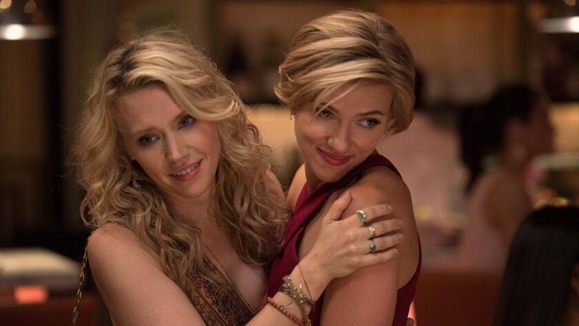 "Scarlett Johansson and Kate McKinnon in ""Rough Night."""